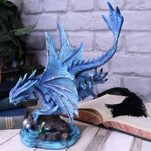 Adult Water Dragon Figurine By Anne Stokes - GOLDENHANDS