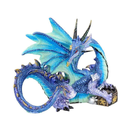 Piasa Sky Blue and Violet Small Fantasy Dragon Figurine - GOLDENHANDS