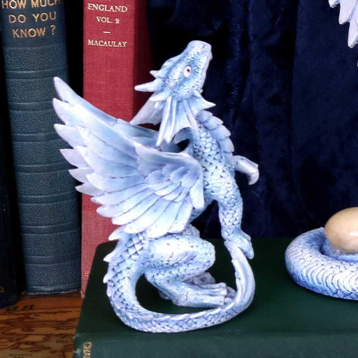Small Silver Dragon Figurine By Anne Stokes From The Age of Dragons Collection - GOLDENHANDS
