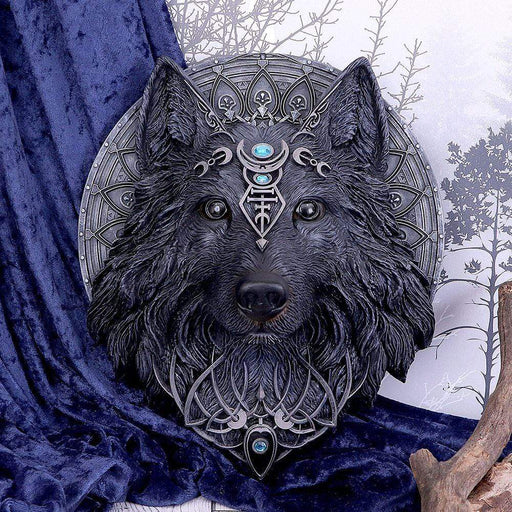 Wolf Moon Dark Gothic Magical Wall Hanging Plaque - GOLDENHANDS