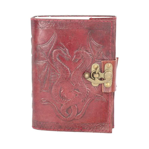 Double Dragon Leather Embossed Journal with Catch - GOLDENHANDS