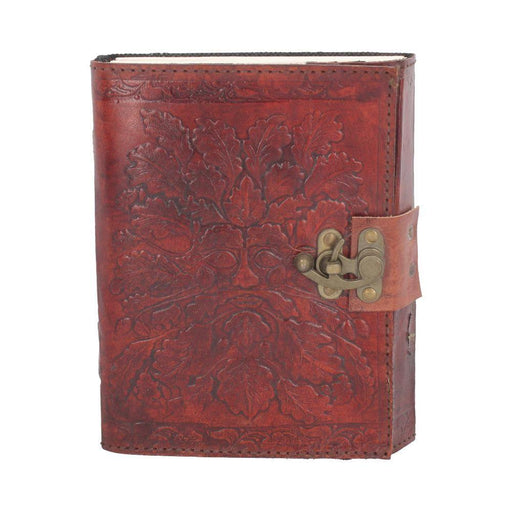 Greenman Leather Embossed Journal with Catch - GOLDENHANDS