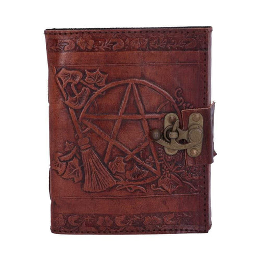 Pentagram Leather Emboss Journal with catch - GOLDENHANDS