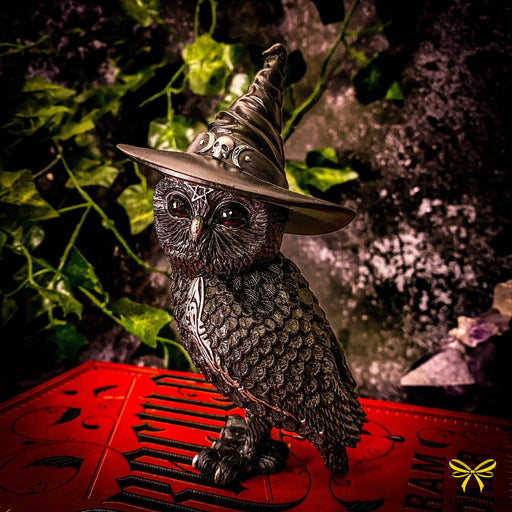 Owlocen Witches Hat Occult Owl Figurine - GOLDENHANDS