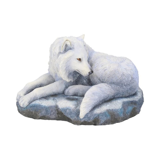 Guardian of the North Snowy Wolf Figurine by Lisa Parker - GOLDENHANDS