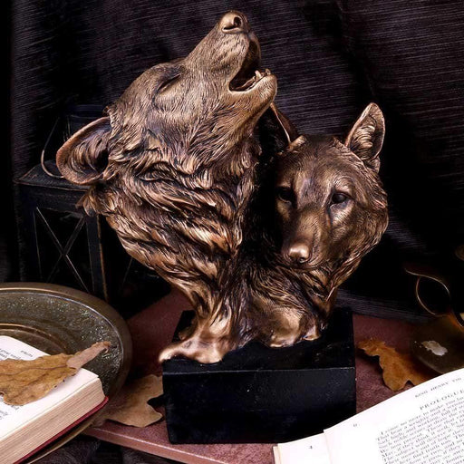 Song of the Wild Howling Bronzed Wolf Bus - GOLDENHANDS