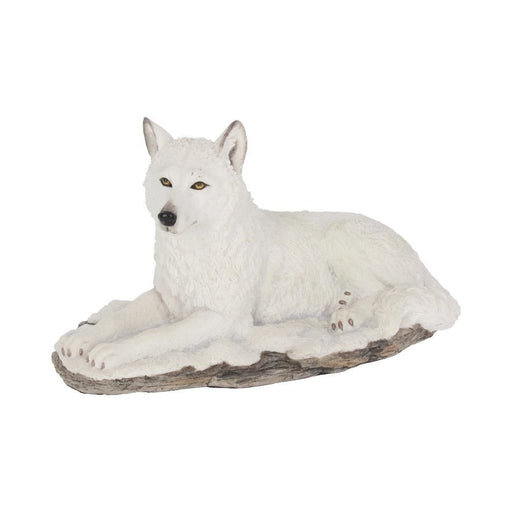 White Shadow Lying White Wolf Ornament - GOLDENHANDS