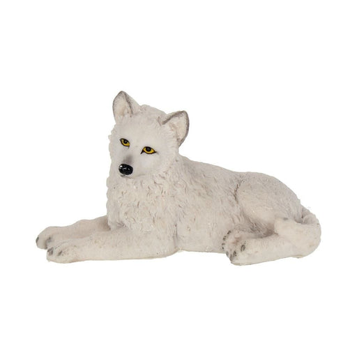 Winter Wolf Pup Infant White Wolf Figure - GOLDENHANDS