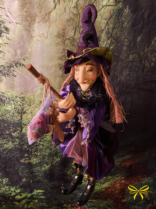 Alice Nutter Purple 50cm Pendle Witch - GOLDENHANDS