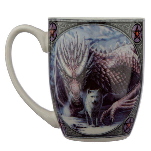 Alliance Wolf and Dragon Porcelain Mug - GOLDENHANDS