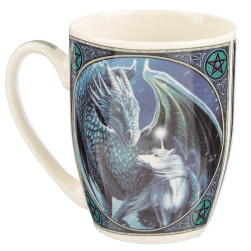 Protector of Magick Dragon Porcelain Mug - GOLDENHANDS