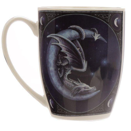 Sweet Dreams Dragon and Moon Porcelain Mug - GOLDENHANDS