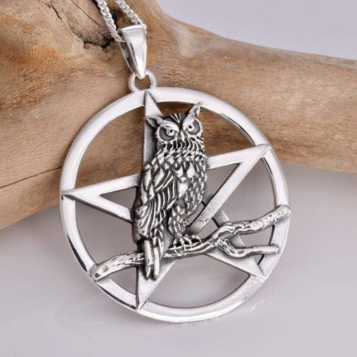 Owls Rest Solid 925 Sterling Silver Pendant - GOLDENHANDS