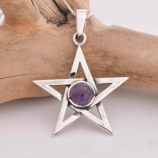 Pentagram Solid 925 Sterling Silver pendant - GOLDENHANDS