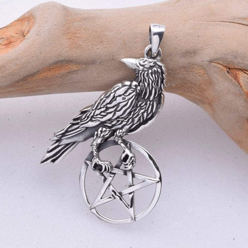 Ravens Lookout Solid 925 Sterling Silver Pendant - GOLDENHANDS