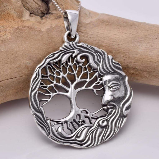 Wiseman Tree of Life silver Solid 925 Sterling Silver Pendant - GOLDENHANDS