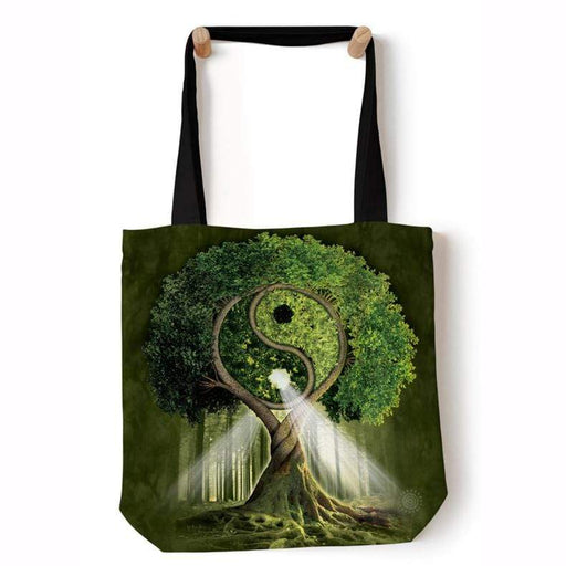 Yin Yang Tree Tote Bag - GOLDENHANDS