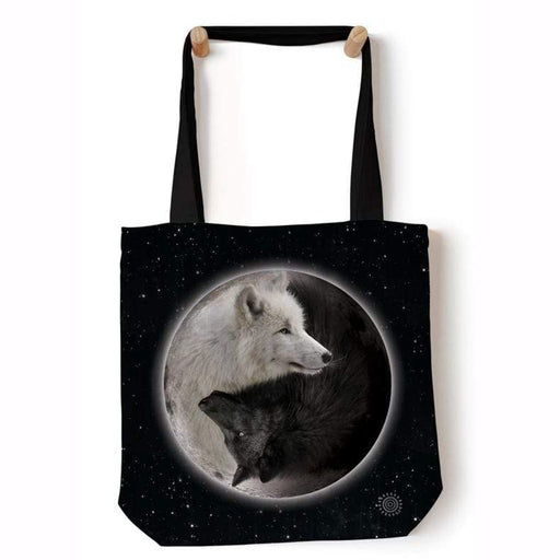 Yin Yang Wolves Tote Bag - GOLDENHANDS