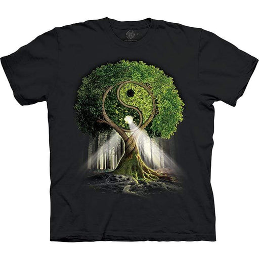 Yin Yang Tree Unisex T Shirt - GOLDENHANDS