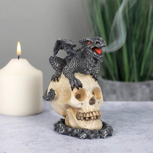 Black Dragon Incense Cone Burner by Anne Stokes - GOLDENHANDS