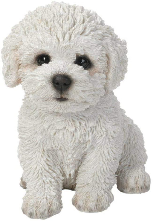 Bichon Frise Puppy Pet Pals Home or Garden Decoration - GOLDENHANDS