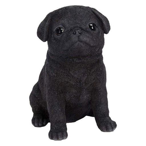Black Pug Puppy Pet Pals Home or Garden Decoration - GOLDENHANDS