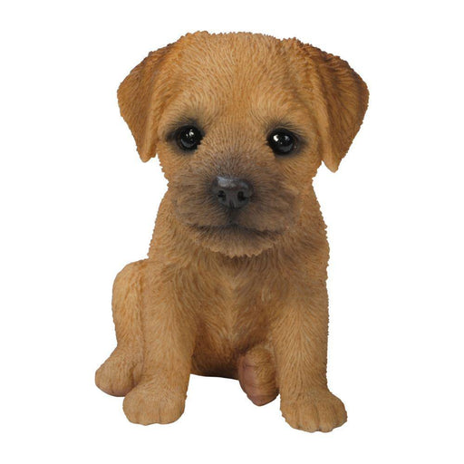 Border Terrier Puppy Pet Pals Home or Garden Decoration - GOLDENHANDS