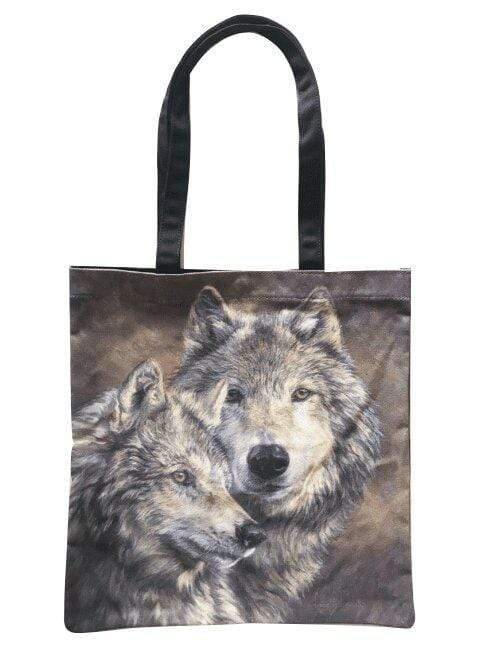 'The Bond' Wolf Tote Bag - GOLDENHANDS