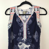Anthropologie one September embroidered tank top, xsmall