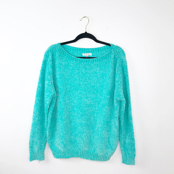 On the road chenille ultra soft pullover sweater, small / medium