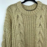 Unif X Urban outfitters chunky cable knit sweater, medium
