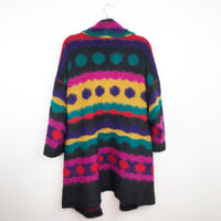 Vintage 1980's Picasso inspired wool blend cardigan, large
