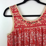 Free people floral printed swing tank, xsmall