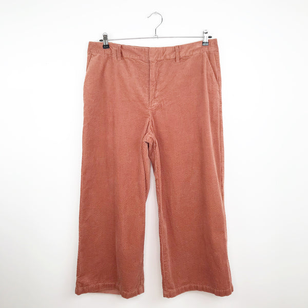 A new day corduroy wide leg cropped pants, 16 extra large