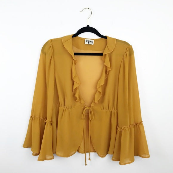Show me your mumu Haley top marigold yellow, medium