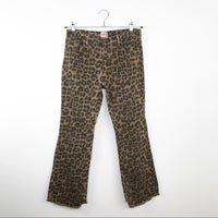 Ottod'Ame leopard kick flare jeans, 30