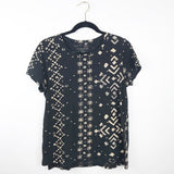 Lucky brand bohemian printed tee, medium