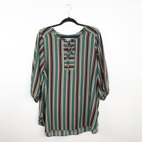 Meri skye striped tunic blouse, 1x plus size