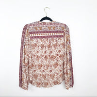 Lucky brand bohemian embellished blouse, small