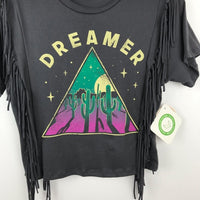 boho fringe dreamer graphic tee, small