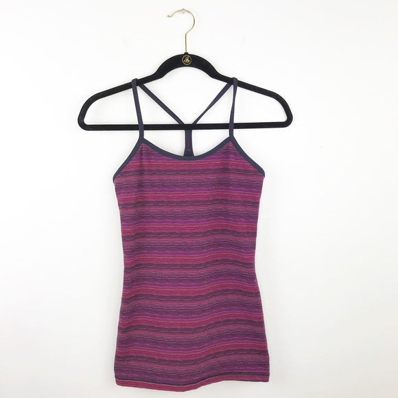 Lululemon space dye power Y tank, 6 small