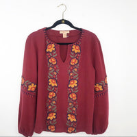 Anthropologie kyra keely embroidered blouse, large