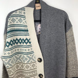 Anthropologie albany intarsia nordic cardigan sweater, 12 large
