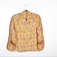 Anthropologie maeve Goldie embroidered blouse, 4 small