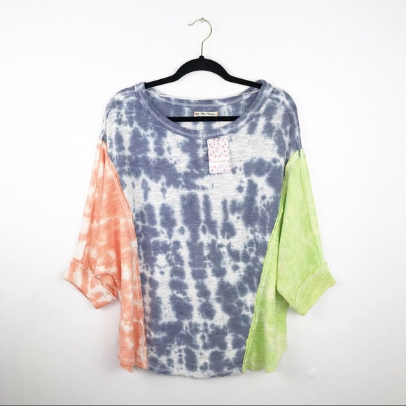 Free people chasing the sun pullover tie dye, small