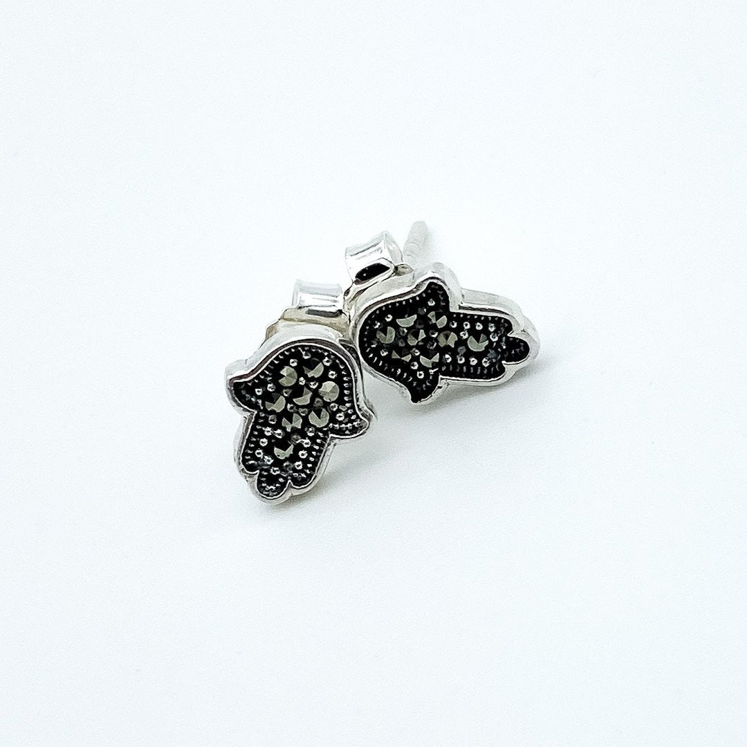 Hamsá Marcassite Earrings