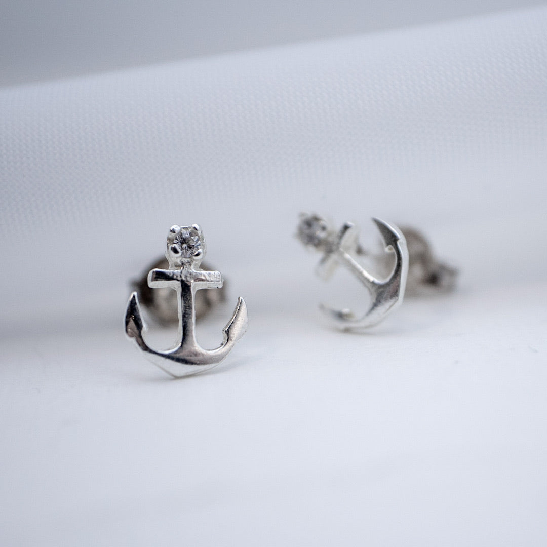 Mini Anchor Earrings