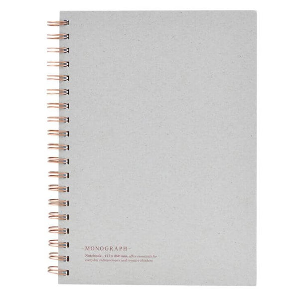 Monograph Grey Tabbed Spiral Notebook