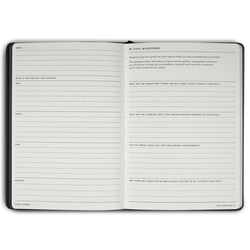 MiGoals A5 Goals Journal