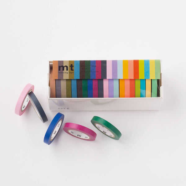 MT Set of 20 Multicoloured Slim Washi Tapes